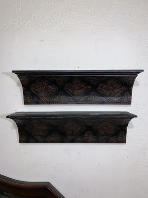 Set of 2 Metal Wall Shelves 24 inches long for Sale in Miami, FL