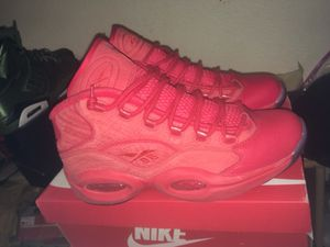 All red limited Reebok iversons question for Sale in Dallas, TX