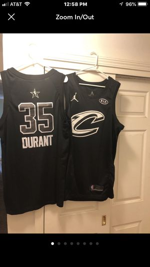 ca0f8d9ec 2017 - 2018 NBA All Star Jersey s LeBron James Cleveland Cavaliers and  Kevin Durant Golden State