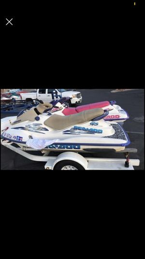 Brown ski with trailer clean title trade for boat for Sale in Riverside, CA