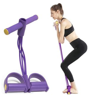 Pedal Resistance Band, Upgrade Bold 4 Tubes Tension Rope Fitness Yoga Resistance Bands, Elastic Pull Rope Fitness Equipment, Natural Latex Pedal Exer for Sale in Orlando, FL