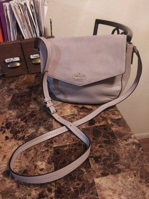 Kate Spade NY taupe leather and suede messenger crossbody shoulder bag purse for Sale in Phoenix, AZ