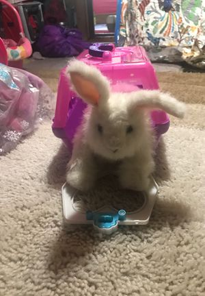 Fur Real Friend rabbit with carrier for Sale in Palos Heights, IL