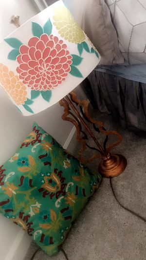 Bronze Lamp with cushion! for Sale in Washington, DC