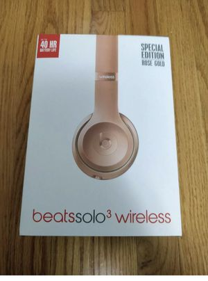 Beats Solo3 Wireless On-Ear by dr dre Bluetooth Headphones in Rose Gold for Sale in Washington, DC