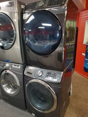 Samsung electric front load set washer and dryer in great condition for Sale in Randallstown, MD