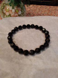 Black Crystal Faceted Stretch Bracelet for Sale in Pensacola,  FL