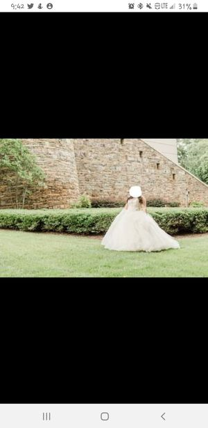 Beautiful wedding or quinceanera dress. Used once. for Sale in Suwanee, GA