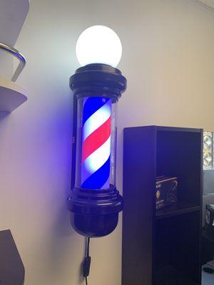 BarberPub Barber Pole Rotating LED Strips Light Metal Hair Salon Sign for Sale in Commerce, CA