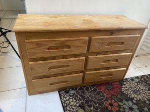 Six Drawer Wooden Dresser Storage Chest for Sale in Orlando, FL