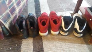 Bundle 1 pair of lebrones and 2 pairs of jordans all size 12 for Sale in Gibraltar, MI