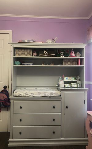 Changing table/dresser with hutch for Sale in Dearborn, MI
