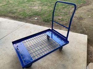 "Blue Metal Rolling moving cart 42"" X 29"" platform for Sale in Fresno, CA"