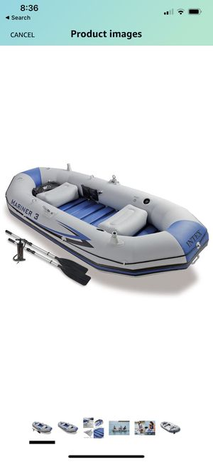 Intex mariner 3 inflatable boat set with pump and oars for Sale in Los Angeles, CA