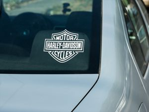 Harley Davidson Window decal for Sale in South Zanesville, OH