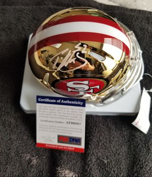 Patrick Willis Signed San Francisco 49ers NFL Chrome Mini Helmet with PSA COA for Sale in Hayward, CA