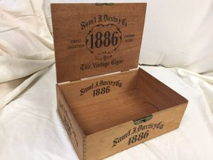Samuel Davis 1886 cigar box for Sale in Portland, OR