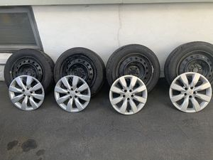 16in steel rims with 205/55/R16 tires for Sale in West Orange, NJ