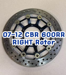 07-12 CBR 600RR Front Brake Disc Rotor (Right) for Sale in Roswell,  GA
