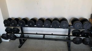 70,80,90 pound free weight dumbbells for Sale in San Jose, CA