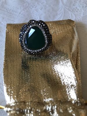 Beauty of handmade art Emerald ring size 7 Antique old fashion for Sale in El Cerrito, CA