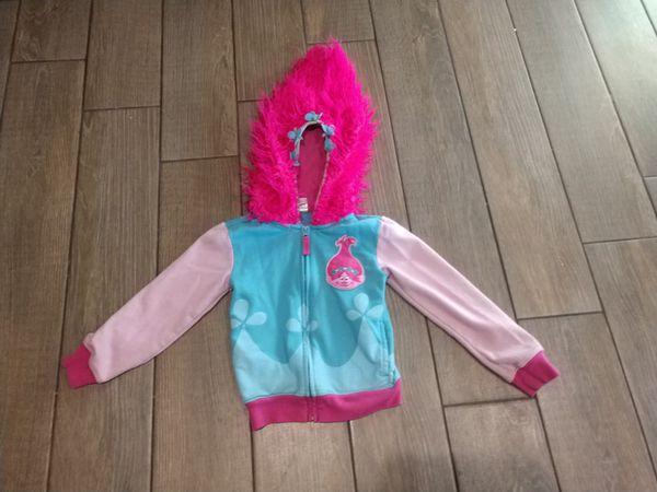 Girls Six 6 Poppy Trolls Hoodie Sweatshirt