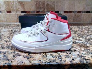 Nike Air Jordan 2 II Retro BG GS SZ 5Y White Varsity Red OG 395718-102 for Sale in East Point, GA