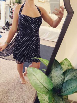 Polka dot halter navy blue dress for Sale in Gibsonton, FL