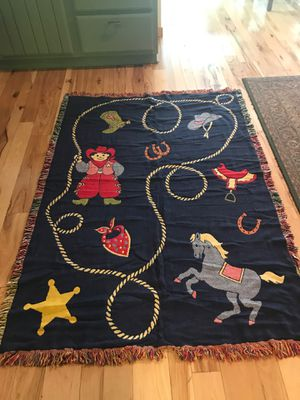 """Western throw! Brand new !! About 6' x41/2"""" darling and whimsical!! for Sale in Pinetop, AZ"""
