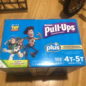 102 Huggies 4-5t Pull-ups for Sale in Culver City, CA