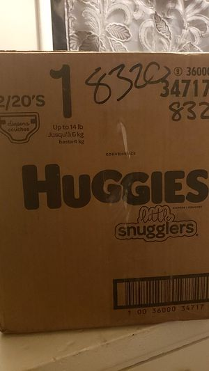 Huggies size 1 diapers for Sale in Los Angeles, CA