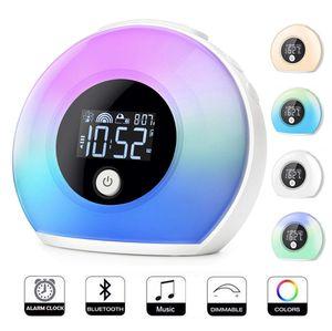 Brand new kids alarm + table lamp + night light + tap/knock to change color + Bluetooth speaker for Sale in Santa Clara, CA