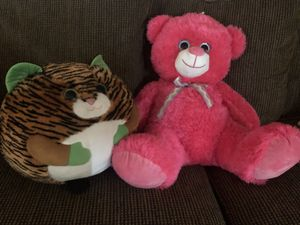 $10 for both - teddy bear & tiger stuffed animal for Sale in Phoenix, AZ