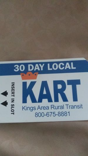 30 day KART local bus pass for Sale in Hanford, CA
