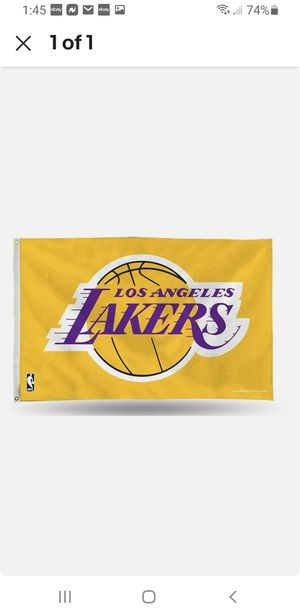 3X5 FEET LAKERS FLAG for Sale in South Gate, CA