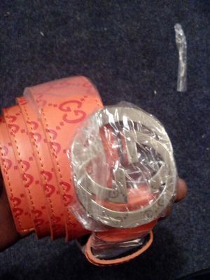 Orange Gucci belt for Sale in Baltimore, MD