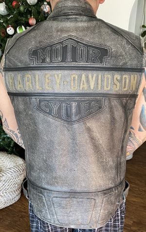 Harley Davidson Leather Vest for Sale in Fairfield, CA