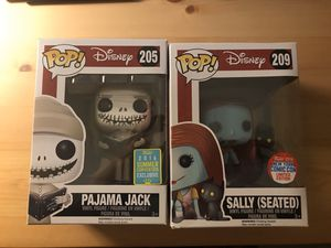 Funko POP - Nightmare Before Christmas: Pajama Jack and Sally (seated) for Sale in Alamogordo, NM