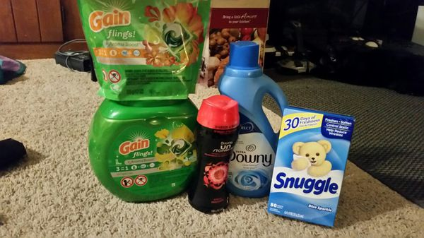Gain Flings, Downy, Snuggle Laundry Bundle