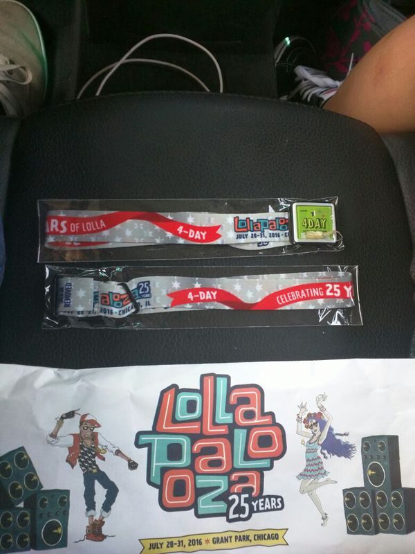 2 Lollapalooza 4 Day bands
