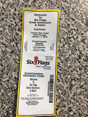 Six Flags Ticket for Sale in Tallahassee, FL