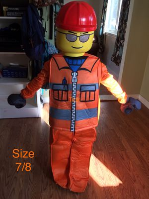 Lego construction man Halloween costume size 7/8 for Sale in Virginia Beach, VA