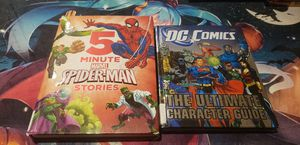 5 minute Spiderman Stories & DC Comics Ultimate Character Guide for Sale in Las Vegas, NV