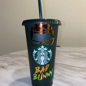 Bad Bunny holographic Starbucks Cup for Sale in San Jose, CA