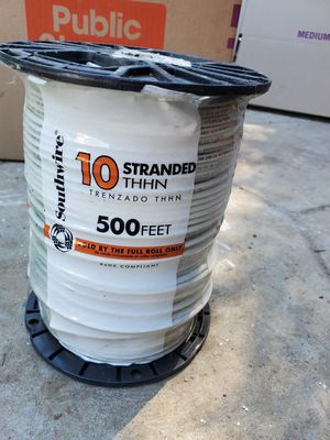 500 ft. 10 White Stranded CU THHN Wire for Sale in Spring Valley, CA