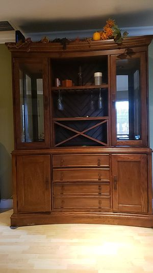 Oak hutch for Sale in Upland, CA