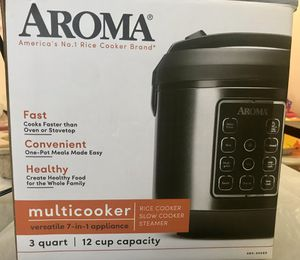 Aroma Electric 12 Cup Rice Cooker for Sale in Edison, NJ