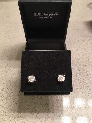 Diamond earrings from Macy's with tag for Sale in Chandler, AZ