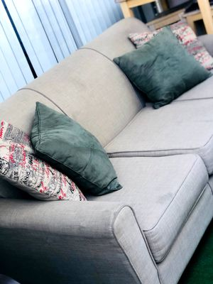 3 seat sofa couch with throw pillows for Sale in Huntington Beach, CA