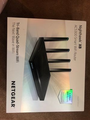 Netgear Night Hawk x8 AC5300 Smart WiFi Router for Sale in Tigard, OR